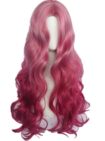 European and American women's mid length curly hair wig