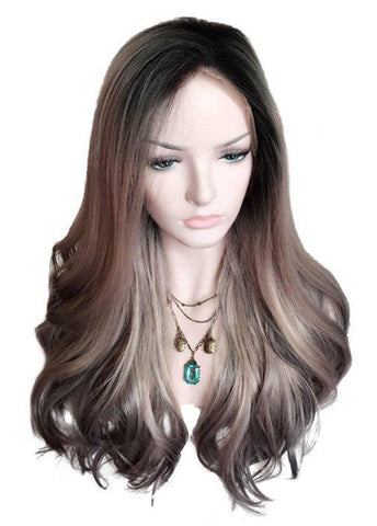 Big Wavy Lace Front Cap Synthetic Hair Women Cosplay Wigs
