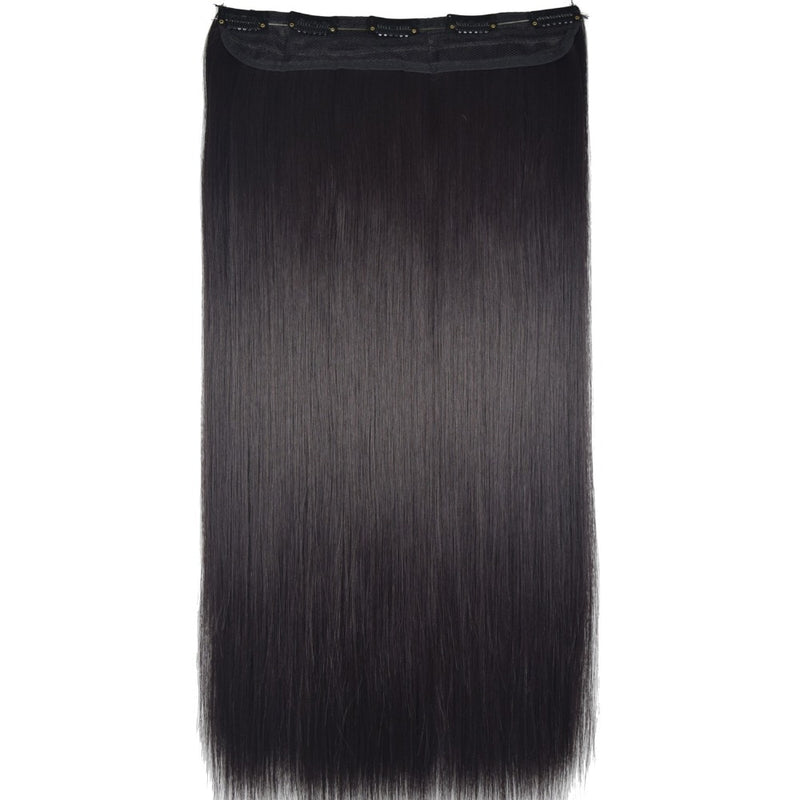 "Heat Resistant B5 Synthetic Fiber 24"" 60cm 120gr Straight 5 clips on clip in hair Extensions 90 colors available"