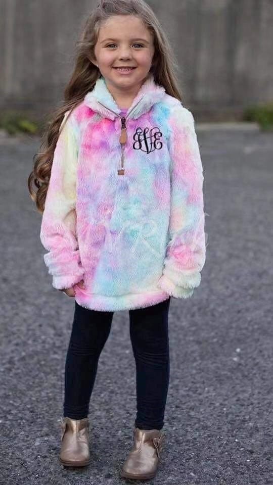 Rainbow Sherpa KIDS Pullover