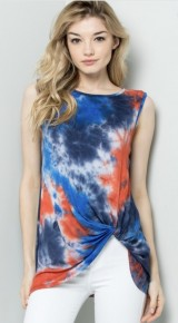 Sleeveless Knotted TieDye Top *Final Sale*