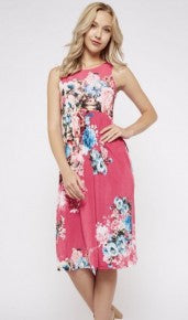 Sleeveless Floral Empire Waist Dress *Final Sale*