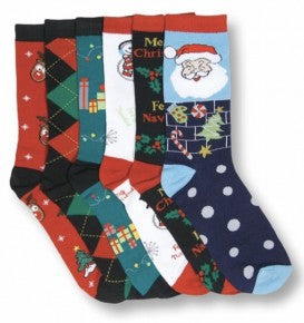 Ladies Holiday Crew Socks