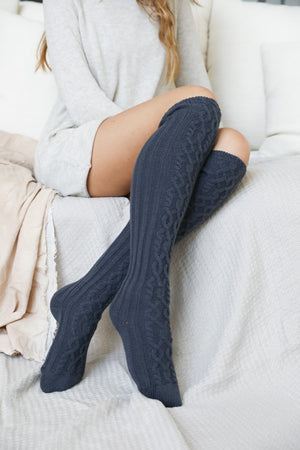 Knee High Cable Knit Socks *FINAL SALE*