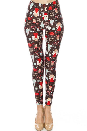 Santa / Merry Xmas Leggings *FINAL SALE*