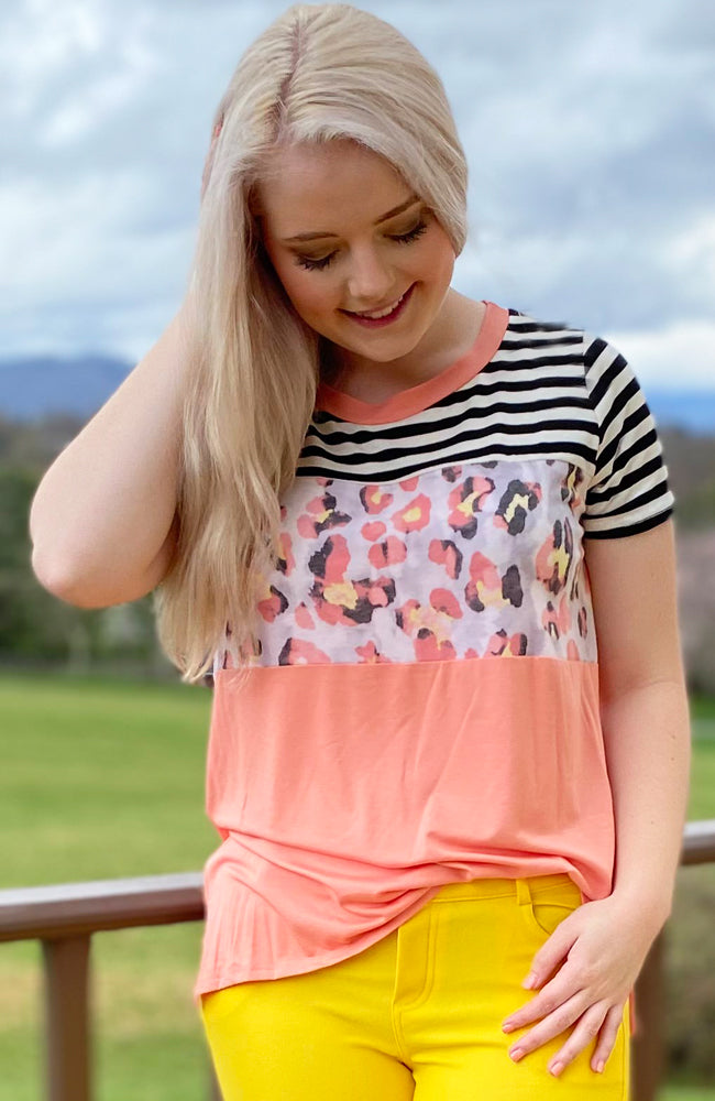 'Sew In Love' ~ Color Block Top