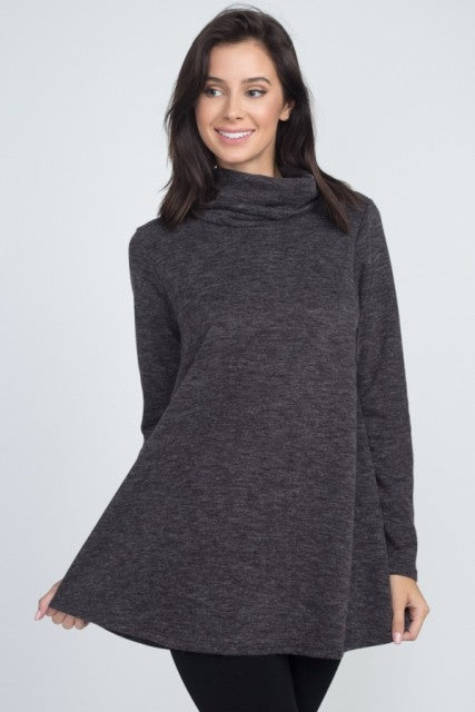 Cowl Neck Long Sleeve Top *Final Sale*