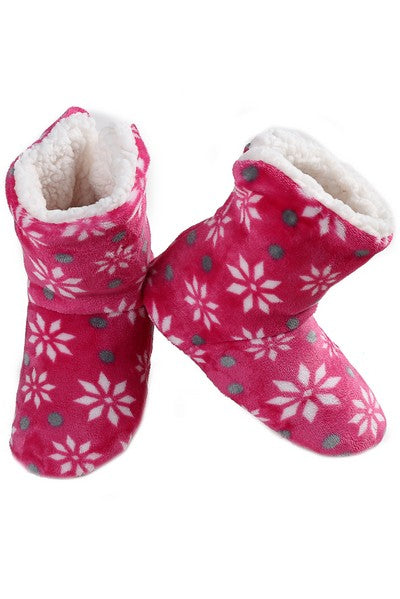 Snowflake Print Boot style Slippers