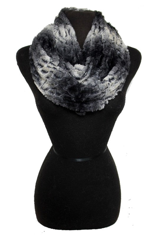 Graduated Two Tone Faux Fur Infinity Scarf *FINAL SALE*