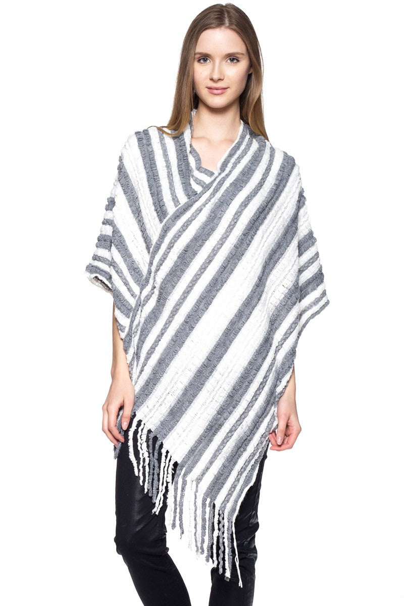 Fringe Poncho *FINAL SALE*