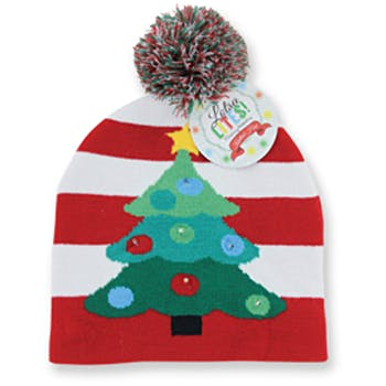 Flashing Holiday Knitted Hat