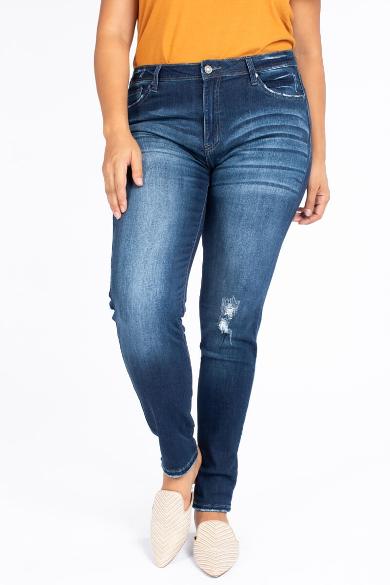 KanCan Distressed Mid Rise Jeans
