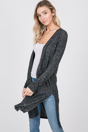 Solid Kimono Cardigan with Side Slit *FINAL SALE*