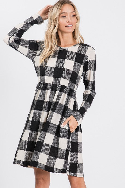 Plaid Print Dress *FINAL SALE*