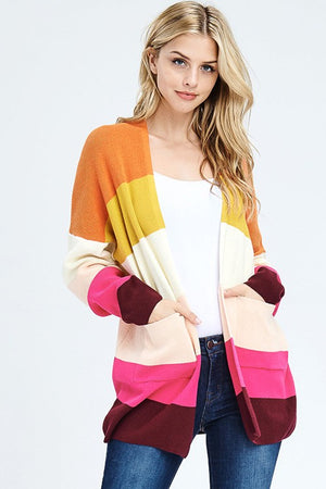 Rainbow Stripe Knit Cardigan *FINAL SALE*