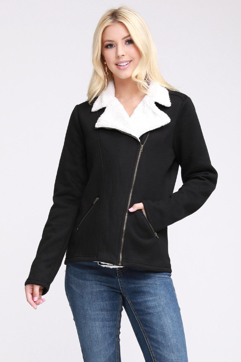 Casual Rider Jacket with Sherpa Lining *FINAL SALE*