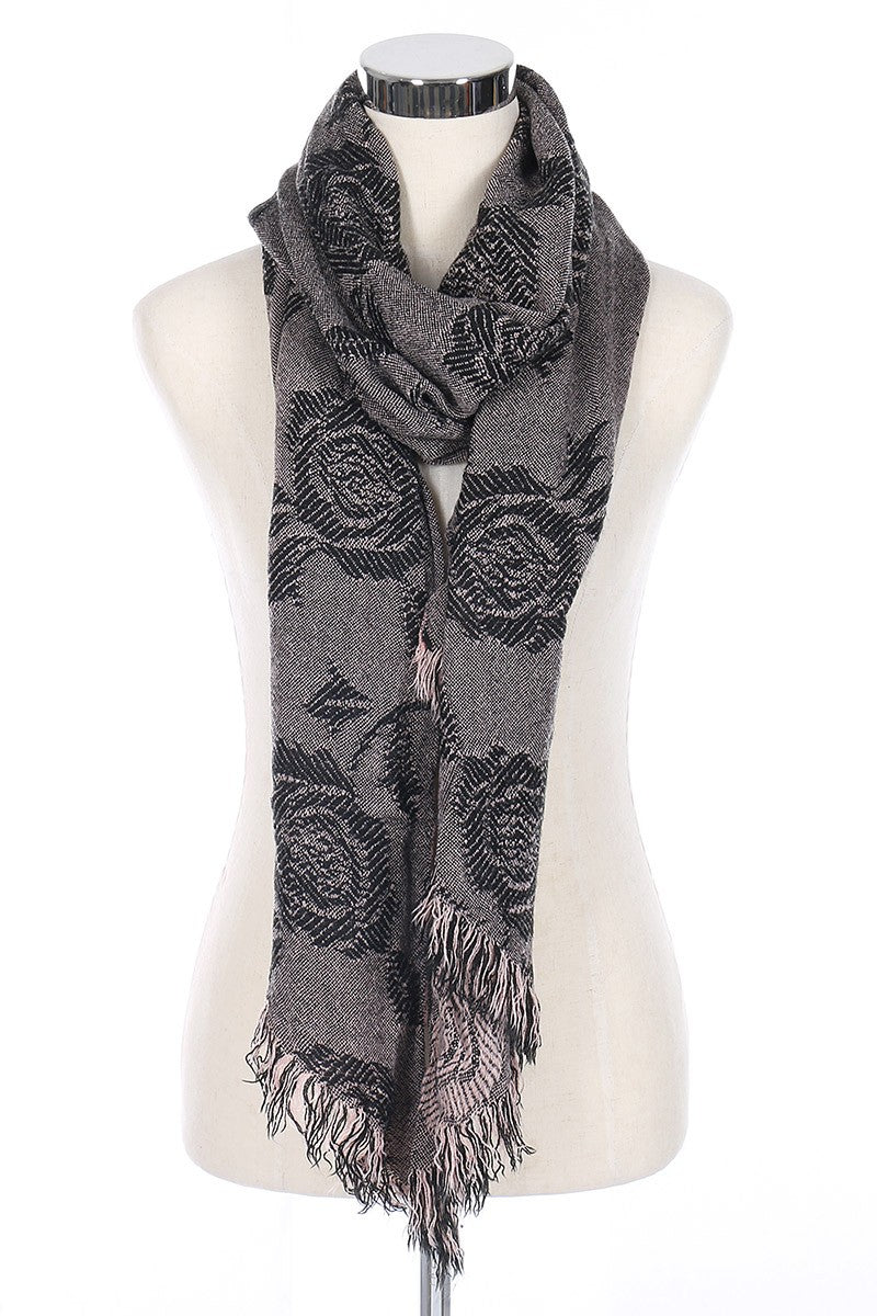 Rose Fringe Scarves *FINAL SALE*