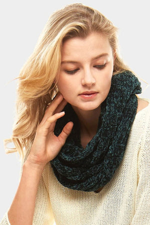 Striped Chenille Infinity Scarf *FINAL SALE*