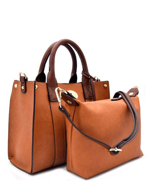 Twist-lock Ornament Accent Mini Bag In Bag Satchel Set * FINAL SALE*