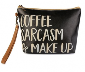 STATEMENT COSMETIC BAG - Coffee