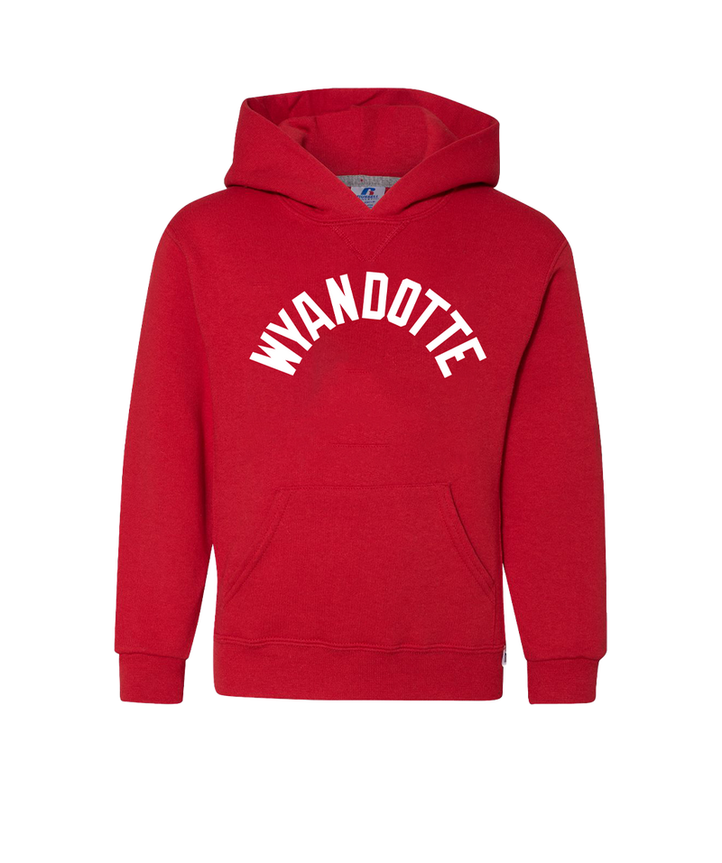 Wyandotte Arch - Youth Hoodie - Red