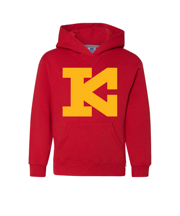 Block KC Kingdom - Youth Hoodie - Red Gold