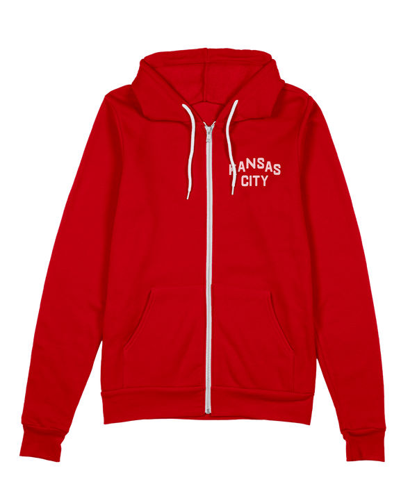 Kansas City Classic Zip Hoodie - Red