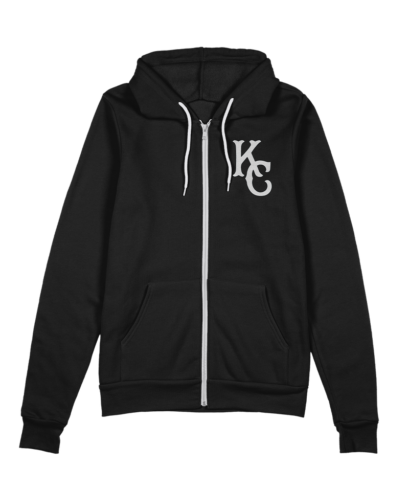 KC Monarch Zip Hoodie - Black