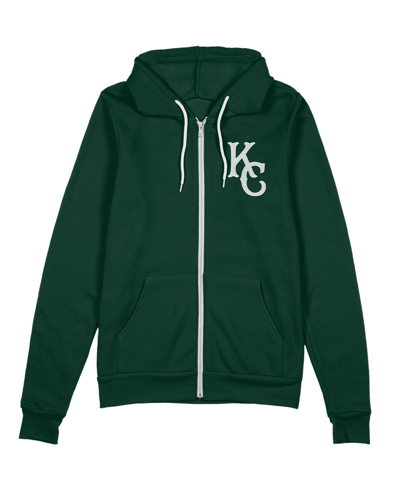 KC Monarch Zip Hoodie - Forest