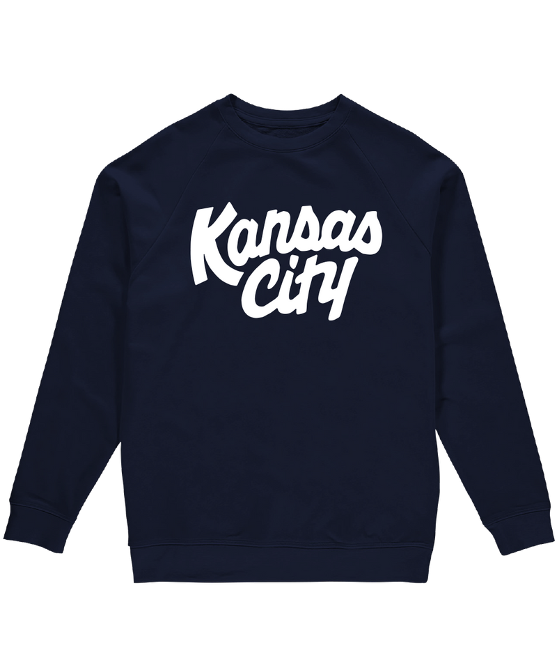 Kansas City Script Crewneck - Navy