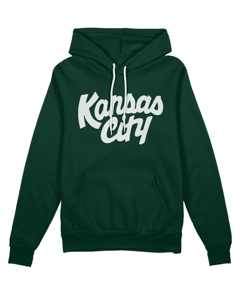 Kansas City Script Hoodie - Forest Green