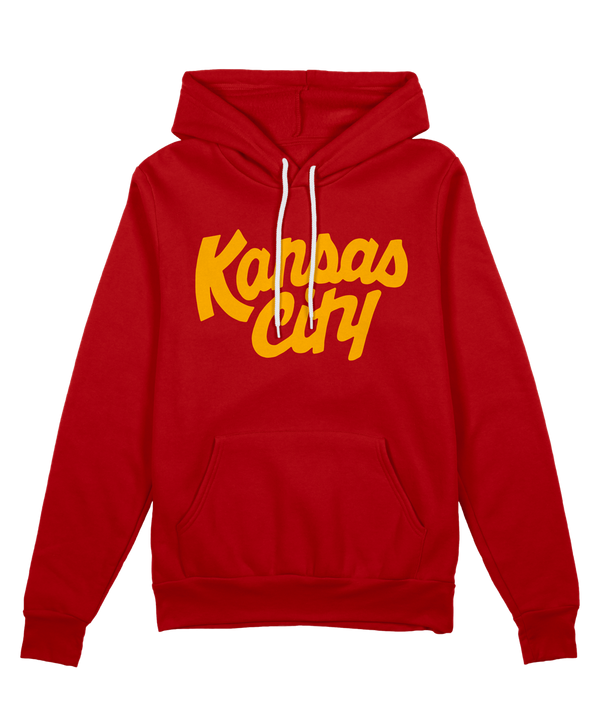 Kansas City Script Kingdom Hoodie - Red Gold