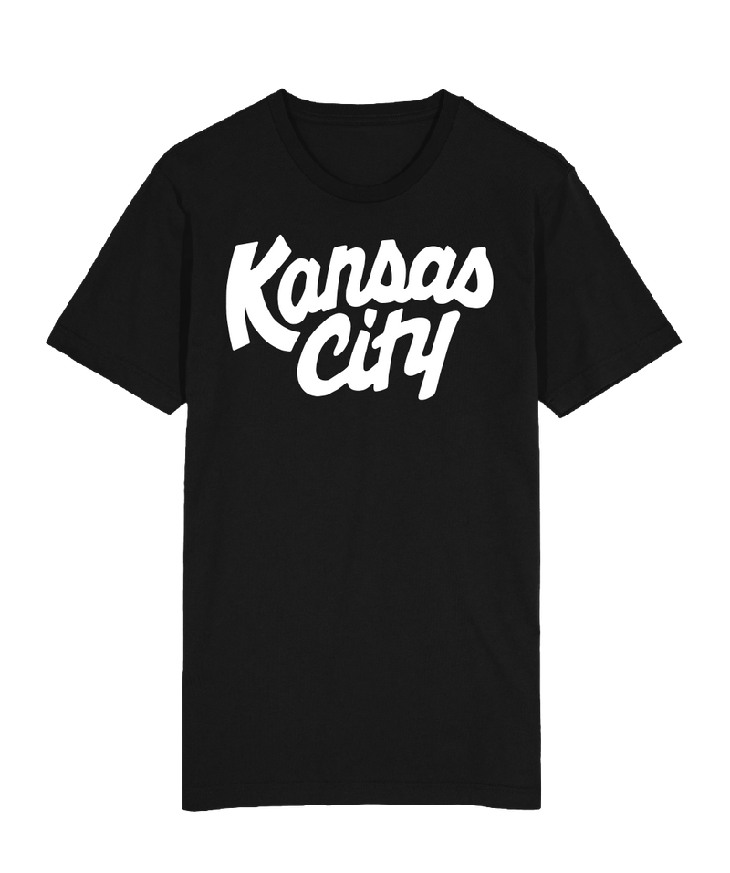Kansas City Script T-Shirt - Black White