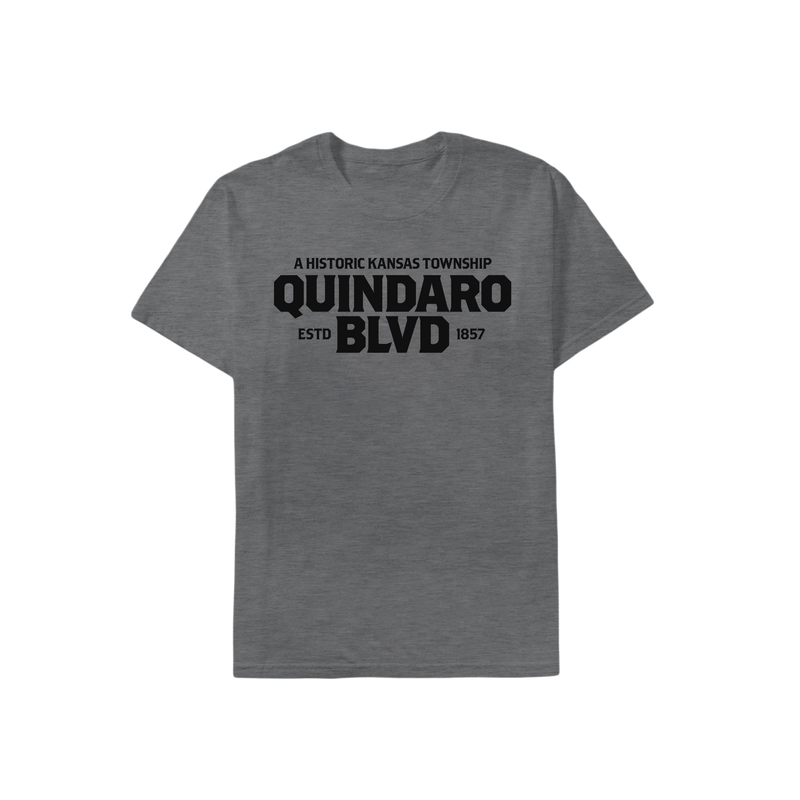 Quindaro Nameplate T-Shirt Deep Heather