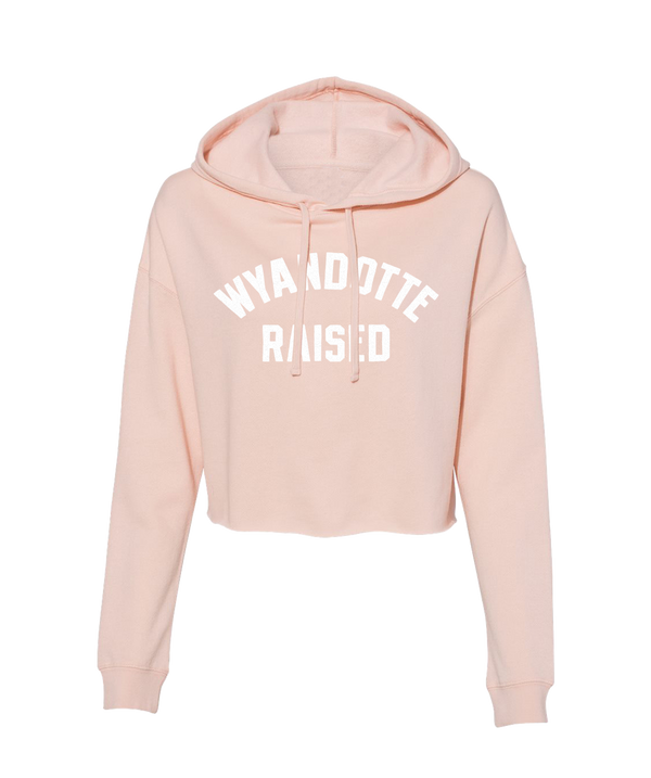 Wyandotte Raised Crop Hoodie- Peach