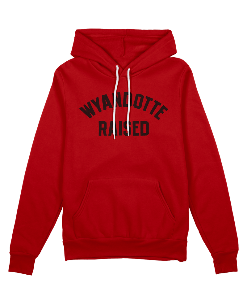 Wyandotte Raised Hoodie - Red