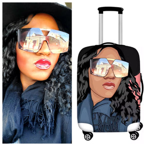 Custom Drawn Luggage Cover - Custom2Fly