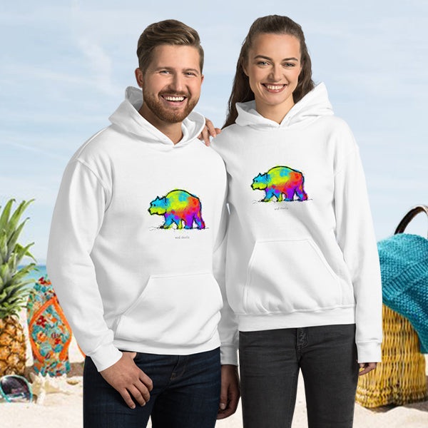 COLOR BEAR Amazing Mad Charlie's White UNISEX Hoody - madcharliestore
