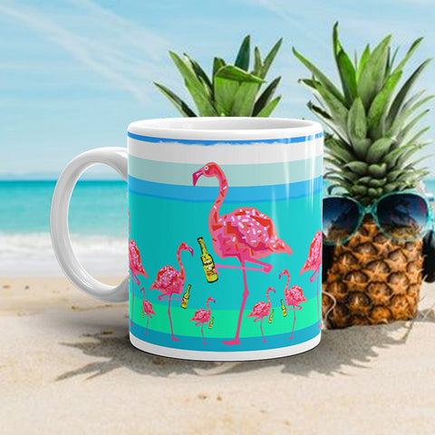 FLAMINGO PARTY Amazing Mad Charlie's Coffee Mug - madcharliestore