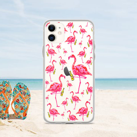 FLAMINGO PARTY Amazing Mad Charlie's IPHONE CASE - madcharliestore