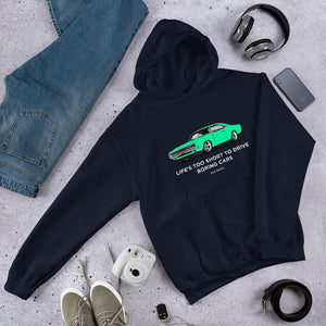 LIFE'S TOO SHORT Amazing Mad Charlie's Turquoise Charger Dark Colors UNISEX Hoody - madcharliestore