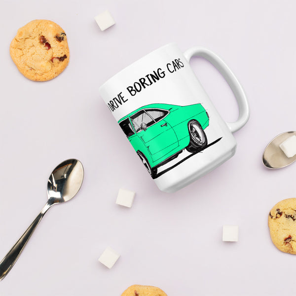 LIFE'S TOO SHORT Amazing Mad Charlie's Turquoise Charger Coffee Mug - madcharliestore