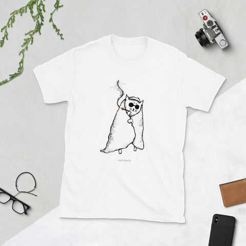 HUNGOVER CAT - Poorly Drawn Mad Charlie's Short-Sleeve UNISEX T-Shirt