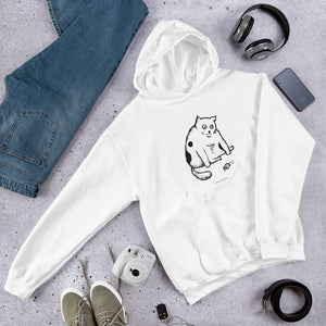 WHAT'S THE POINT CAT - Poorly Drawn Mad Charlie's UNISEX Hoody