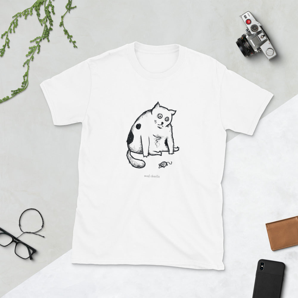 WHAT'S THE POINT CAT - Poorly Drawn Mad Charlie's Short-Sleeve UNISEX T-Shirt