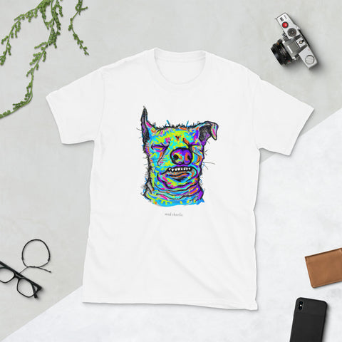 UGLY DOGS Amazing Big Print Mad Charlie's Short Sleeve UNISEX T-SHIRT