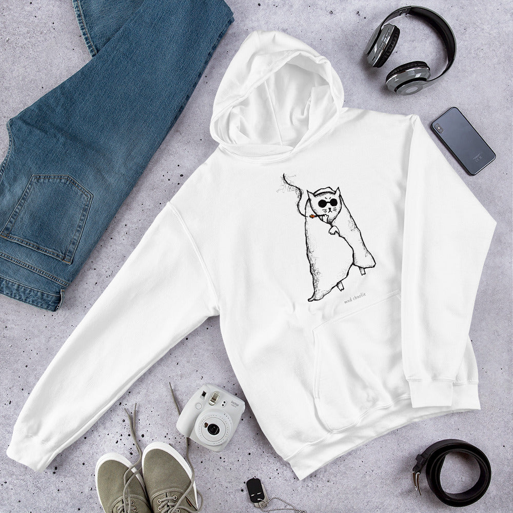 HUNGOVER CAT - Poorly Drawn Mad Charlie's UNISEX Hoody