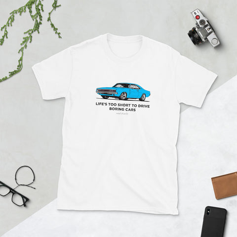 LIFE'S TOO SHORT Amazing Mad Charlie's Short-Sleeve Light Colors Blue Charger UNISEX T-Shirt - madcharliestore