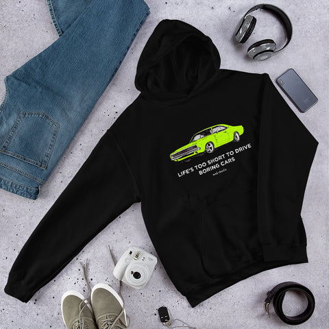 LIFE'S TOO SHORT Amazing Mad Charlie's Lime Charger Dark Colors UNISEX Hoody - madcharliestore
