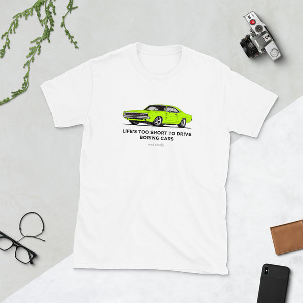 LIFE'S TOO SHORT Amazing Mad Charlie's Short-Sleeve Light Colors Lime Charger UNISEX T-Shirt - madcharliestore
